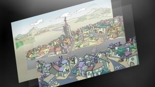Watusi Entertainment - Nicktown ciudad vista general en multicapas