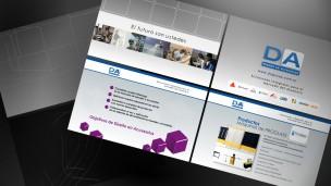 DA Diseño en Accesorios - video pantallas de productos, servicios y cierre
