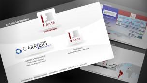 Grupo SMS - presentación corporativa, pantalla principal