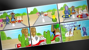 Tarjetas.com - Tarjetas animadas Carrera loca