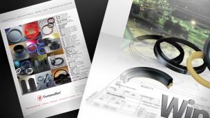 Tecnosellos - folletos detalle portada, vista de contratapa