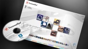 Tecnosellos - multimedia, mini-CD y pantalla de menú principal