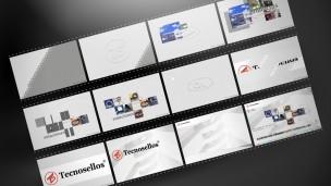 Tecnosellos - multimedia, secuencia de introducción animada