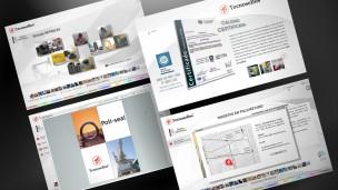 Tecnosellos - multimedia, pantallas varias (visor PDF Flash Paper, Calidad, Mapa)
